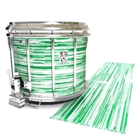 Ludwig Ultimate Series Snare Drum Slip - Chaos Brush Strokes Green and White (Green)