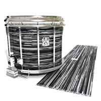 Ludwig Ultimate Series Snare Drum Slip - Chaos Brush Strokes Grey and Black (Neutral)