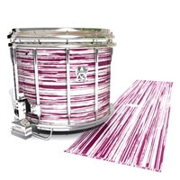 Ludwig Ultimate Series Snare Drum Slip - Chaos Brush Strokes Maroon and White (Red)