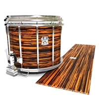 Ludwig Ultimate Series Snare Drum Slip - Chaos Brush Strokes Orange and Black (Orange)