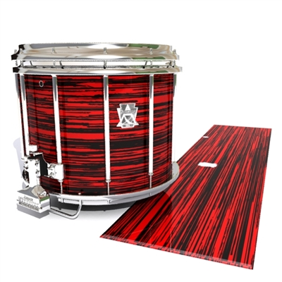 Ludwig Ultimate Series Snare Drum Slip - Chaos Brush Strokes Red and Black (Red)