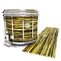 Ludwig Ultimate Series Snare Drum Slip - Chaos Brush Strokes Yellow and Black (Yellow)