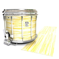 Ludwig Ultimate Series Snare Drum Slip - Chaos Brush Strokes Yellow and White (Yellow)