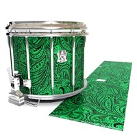 Ludwig Ultimate Series Snare Drum Slip - Dark Green Paisley (Themed)