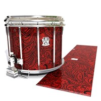 Ludwig Ultimate Series Snare Drum Slip - Deep Red Paisley (Themed)