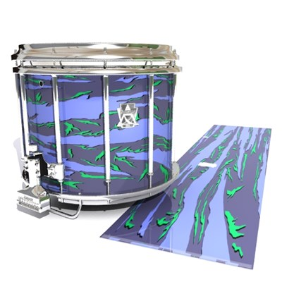 Ludwig Ultimate Series Snare Drum Slip - Electric Tiger Camouflage (Purple)