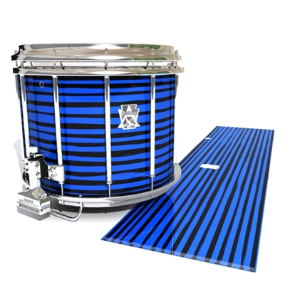 Ludwig Ultimate Series Snare Drum Slip - Lateral Brush Strokes Blue and Black (Blue)