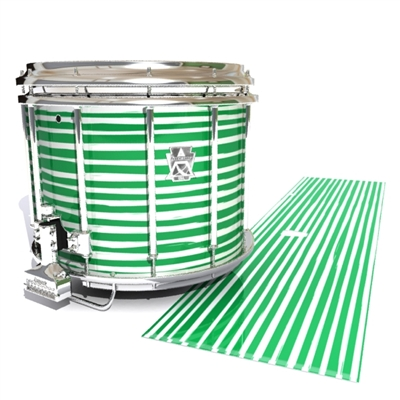 Ludwig Ultimate Series Snare Drum Slip - Lateral Brush Strokes Green and White (Green)