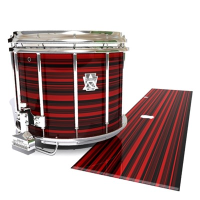 Ludwig Ultimate Series Snare Drum Slip - Red Horizon Stripes (Red)