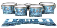 Ludwig Ultimate Series Tenor Drum Slips - Aeriform (Blue)
