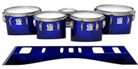 Ludwig Ultimate Series Tenor Drum Slips - Andromeda Blue Rosewood (Blue)