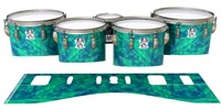 Ludwig Ultimate Series Tenor Drum Slips - Aqua Cosmic Glass (Aqua)