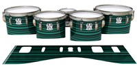 Ludwig Ultimate Series Tenor Drum Slips - Aqua Horizon Stripes (Aqua)
