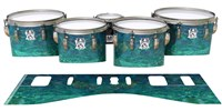 Ludwig Ultimate Series Tenor Drum Slips - Aquamarine Blue Pearl (Aqua)