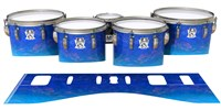 Ludwig Ultimate Series Tenor Drum Slips - Aquatic Blue Fade (Blue)