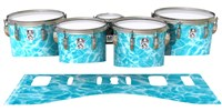 Ludwig Ultimate Series Tenor Drum Slips - Aquatic Refraction (Themed)