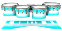 Ludwig Ultimate Series Tenor Drum Slips - Aqua Wake (Aqua)