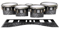 Ludwig Ultimate Series Tenor Drum Slips - Ashy Grey Rrosewood (Neutral)