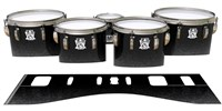 Ludwig Ultimate Series Tenor Drum Slips - Asphalt (Neutral)
