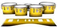 Ludwig Ultimate Series Tenor Drum Slips - Aureolin Fade (Yellow)