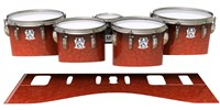 Ludwig Ultimate Series Tenor Drum Slips - Autumn Fade (Orange)