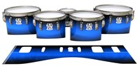 Ludwig Ultimate Series Tenor Drum Slips - Azure Stain Fade (Blue)
