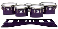 Ludwig Ultimate Series Tenor Drum Slips - Black Cherry (Purple)
