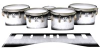 Ludwig Ultimate Series Tenor Drum Slips - Black Magic Fade (Neutral)