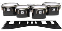 Ludwig Ultimate Series Tenor Drum Slips - Black Stain (Neutral)