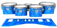 Ludwig Ultimate Series Tenor Drum Slips - Blue Cosmic Glass (Blue)