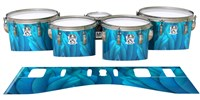 Ludwig Ultimate Series Tenor Drum Slips - Blue Feathers (Themed)
