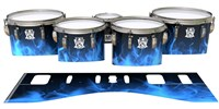 Ludwig Ultimate Series Tenor Drum Slips - Blue Flames (Themed)