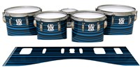 Ludwig Ultimate Series Tenor Drum Slips - Blue Horizon Stripes (Blue)
