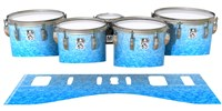 Ludwig Ultimate Series Tenor Drum Slips - Blue Ice (Blue)