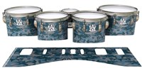 Ludwig Ultimate Series Tenor Drum Slips - Blue Slate Traditional Camouflage (Blue)