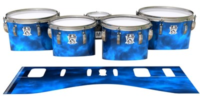 Ludwig Ultimate Series Tenor Drum Slips - Blue Smokey Clouds (Themed)