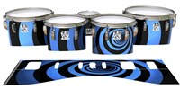 Ludwig Ultimate Series Tenor Drum Slips - Blue Vortex Illusion (Themed)