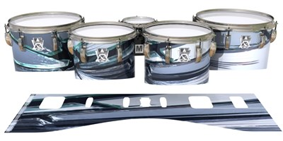 Ludwig Ultimate Series Tenor Drum Slips - Broken Glass (Themed)