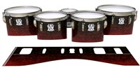 Ludwig Ultimate Series Tenor Drum Slips - Burgundy Rock (Red)