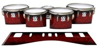 Ludwig Ultimate Series Tenor Drum Slips - Burning Embers (red)