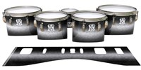 Ludwig Ultimate Series Tenor Drum Slips - Burnout Black (Neutral)