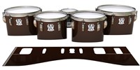 Ludwig Ultimate Series Tenor Drum Slips - Burnt Carbon Fade (Orange)