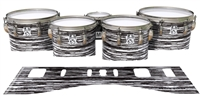 Ludwig Ultimate Series Tenor Drum Slips - Chaos Brush Strokes Black and White (Neutral)