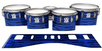 Ludwig Ultimate Series Tenor Drum Slips - Chaos Brush Strokes Blue and Black (Blue)