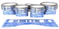 Ludwig Ultimate Series Tenor Drum Slips - Chaos Brush Strokes Blue and White (Blue)
