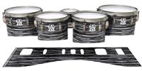 Ludwig Ultimate Series Tenor Drum Slips - Chaos Brush Strokes Grey and Black (Neutral)