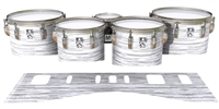 Ludwig Ultimate Series Tenor Drum Slips - Chaos Brush Strokes Grey and White (Neutral)