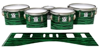 Ludwig Ultimate Series Tenor Drum Slips - Chaos Brush Strokes Green and Black (Green)