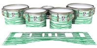 Ludwig Ultimate Series Tenor Drum Slips - Chaos Brush Strokes Green and White (Green)