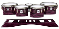 Ludwig Ultimate Series Tenor Drum Slips - Chaos Brush Strokes Maroon and Black (Red)